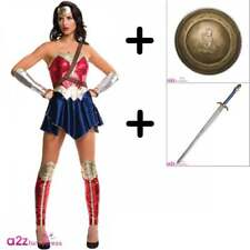 Wonder Woman DC Comics Justice League Adult Ufficiale COSTUME + SHIELD + SWORD