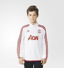 Adidas Boys Climacool Manchester United White/Red Training Top AC1969