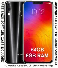 "NEW Lenovo Z5 6.2"" Snapdragon 636 CPU 6GB RAM Android 8.1 64GB or 128GB"
