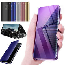 Case Cover Samsung Galaxy S7 S8 S9 Smart View Mirror Wallet Leather Flip Stand