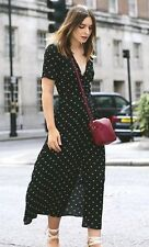 H&M TREND JACQUARD WEAVE SPOTTY DRESS BLOGGERS HOLIDAYS SOLD OUT