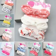 3X Newborn Headband Cotton Elastic Baby Print Floral Hair Band Girls Bow-knot HI