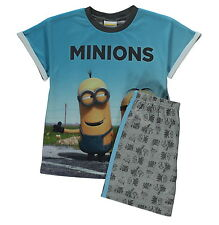 Boys Pyjamas Minions Despicable Me Short Pjs Age 4-5 Years New