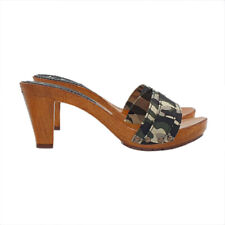 Zoccoli DONNA CAMOUFLAGE - Made in Italy 35 al 41 - Tacco 8-K5101 CAMOUFLAGE