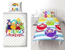 Childrens Kids Teletubbies Playtime Single Duvet Cover Bedding Set Quilt Cover