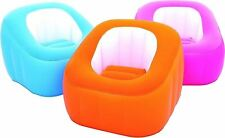 BESTWAY BLUE COMPFORTABLE FLOCKED SURFACE INFLATABLE LOUNGE CAMPING HOME CHAIR
