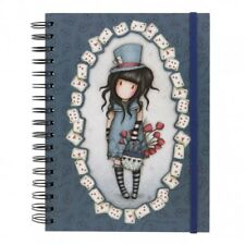 NOTEBOOK SPIRALATO Santoro THE HATTER Gorjuss 816GJ04 quaderno JOURNAL blu