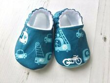 Baby Shoes Scandinavian VEHICLES Slippers Pram Shoes GIFT IDEA 0-24M SOLE CHOICE