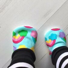 Baby Shoes Pastel RAINBOWS Slippers Pram Shoes BABY GIFT IDEA 0-24M SOLE CHOICE