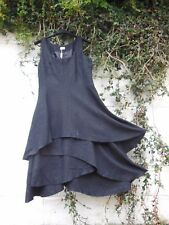 TWEED PINAFORE DRESS BLACK QUIRKY LAYERED SKIRT 8 - 22 BNWT LAGENLOOK ETHNIC