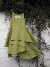 HEART TWEED PINAFORE DRESS GREEN LAYERED SKIRT 8 - 22 BNWT LAGENLOOK ETHNIC