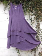 HEART TWEED PINAFORE DRESS PURPLE LAYERED SKIRT 8 - 22 BNWT LAGENLOOK ETHNIC