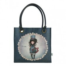 SHOPPER BAG LARGE Gorjuss THE HATTER borsa 291GJ16 Santoro BLU coated