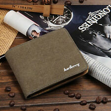 High Quality Soft Leather Canvas Wallet Short Casual Style Fabric Purse For Men