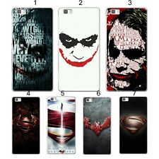CUBIERTA DE LA CAJA CASE batman superman para HUAWEI P8 P9 P10 lite Honor mate 8