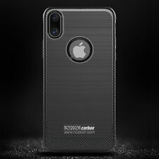 iPhone X 10 Ten Housse Coque Robuste Armure Noziroh Carbon + verre trempé Totale