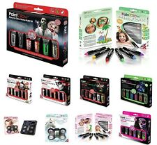 PAINT GLOW in The Dark Neon UV Face & Body Make Up Party Paint Set Kits NEW