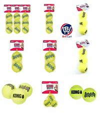 KONG Air Squeaker Pet Dog Puppy Tennis Ball Stick Fetch Toy Treat Game Play Pack