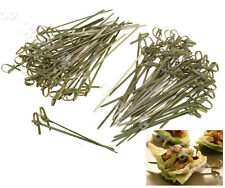 50/100 x Bamboo Knot Skewers Cocktail Sticks Ideal Canape Buffet Party Tableware