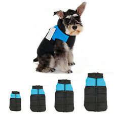 Pet Dog Puppy Warm Insulated Padded Coat Thick Winter Jacket Blue S/M/L/XL