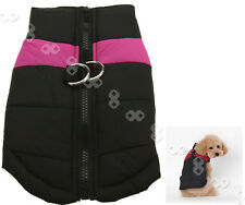 Pet Dog Puppy Warm Insulated Padded Coat Thick Winter Jacket Pink S/M/L/XL