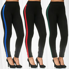 c2f7557f5a4a69 Women's Leggings Stripes Sport Workout Treggings Trousers Stretch Pants  Jeggings