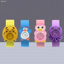 Cartoon Children Slap Snap On Silicone Quartz Wrist Watch Christmas Gift 081D