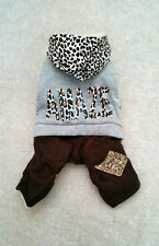Small dog coat, Dog clothes Chihuahua overalls puppycoat Yorkie Size S - L
