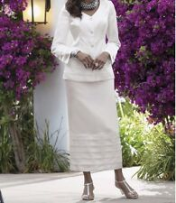 Mother of Bride Groom White Skirt suit Women's Wedding evening plus size 16 ,24W