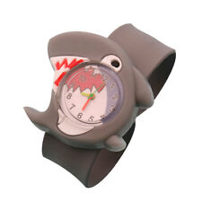 Cartoon Children Slap Snap On Silicone Quartz Wrist Watch Christmas Gift 736B