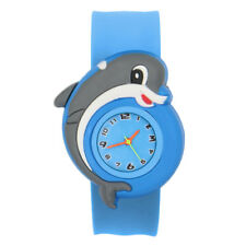 Cartoon Children Slap Snap On Silicone Quartz Wrist Watch Christmas Gift 8B02