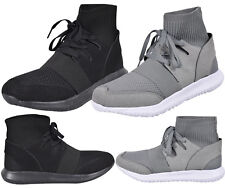 Mens Mid High Top Sneakers Runners Speed Lightweight Shoes Knitt Sock Trainers