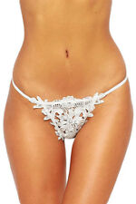 Womens Sexy/Sissy Knickers Lace G-String Thong Underwear Floral (UK)