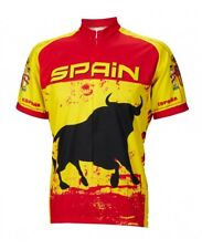 Spain Espana Cycling Jersey by World Jerseys Mens Short Sleeve New bike bicycle