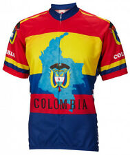 Colombia Cycling Jersey by World Jerseys Mens Short Sleeve New bike bicycle