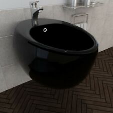 Ceramic Bath Wall Mounted Bidet Bathroom House Hotel Plumbing Accessories Black