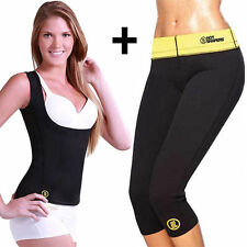 CANOTTA E PANTALONE SNELLENTE DONNA HOT SHAPERS TRAINING DIMAGRANTE PALESTRA