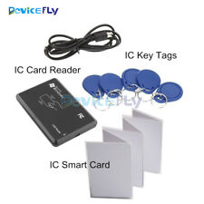 13.56MHZ RFID Smart IC Card Reader Key Tags NFC IC Card Write For Access Control