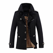 Winter Homme Veste Rembourré Manteau Trench Hiver Parka Chaud Gigantesque