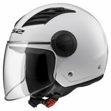 Casco Jet LS2 OF562 AIRFLOW L visiera lunga scooter vespa strada BIANCO