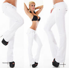 White Bootcut Jeans stretch Low Cut Bootcut Jeans white Pants belt include UK
