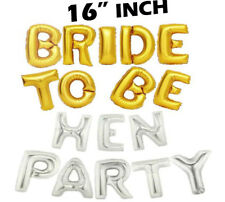 """""""Bride To Be"""" """"Hen Party"""" Foil Engaged Letter Balloon Helium Wedding/Hen Party"""