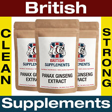 Clean Ginseng Extract 6,600mg (220mg Ginsenosides) Capsules British Supplements