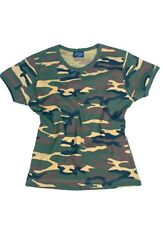 T-Shirt Donna 3-color Woodland Camo Us Army TG S-XL Top Estivo Camicia
