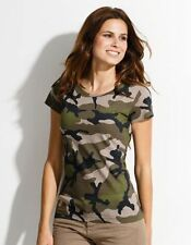 T-Shirt Donna 3-color Woodland Camo Us Army TG S-XXL Top Estivo Camicia