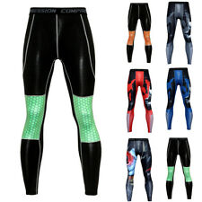 Hommes Fitness Pantalon Jogging Compression Serré Entraînement Gym Course Sport