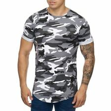 Extra Grande Camuflaje Camiseta Blanco Larga Militar Us Army 41 Mainstream Moda