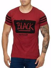 Camiseta Hombre Rojo Entallada Black Cremallera Larga Slim Fit Mainstream Moda