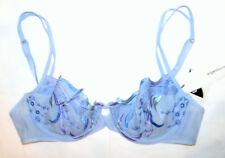 54384e035f ARGENTOVIVO Italy Womens Sheer Demi Cup Bra Underwired Non Padded Cups £129