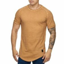 Extra Grande Camiseta Marrón Larga Ovalada Shaped Cuello Redondo Longtee 12